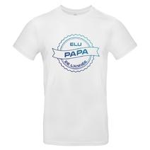 T-shirt blanc Elu papa de l'année
