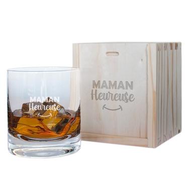 Verre à whisky Maman heureuse