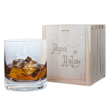 Verre à whisky papa relax