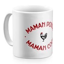 Mug céramique blanc Maman Poule Maman Cool