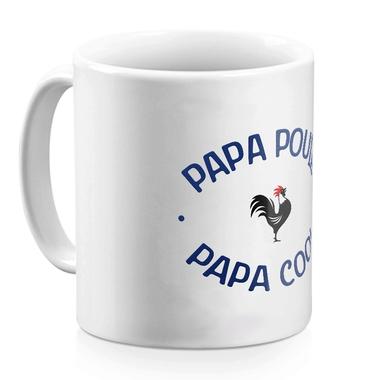 Mug blanc papa poule - cool