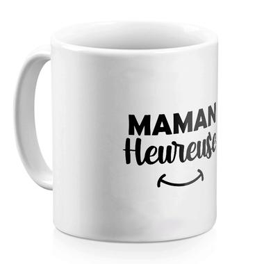 Mug céramique blanc Maman heureuse