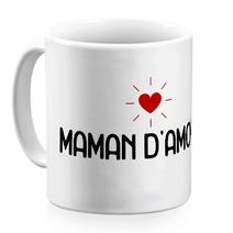 Mug céramique blanc Maman d'amour