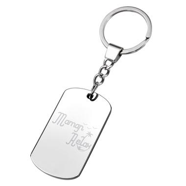 Porte-clés plaque Maman Relax