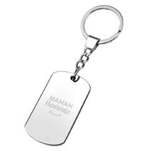 Porte-clés plaque Maman heureuse