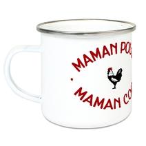 Tasse émaillée Maman Poule Maman Cool