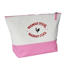 Grande trousse bicolore rose Maman Poule Cool