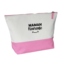 Grande trousse bicolore rose Maman heureuse