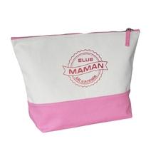 Grande trousse bicolore rose Maman de l'année