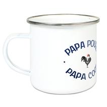 Tasse émaillée Papa poule cool