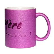 Mug à paillettes violet Mère (veilleuse)