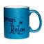Mug à paillettes bleu Maman Relax