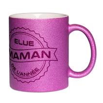 Mug à paillettes violet Maman de l'année