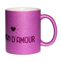 Mug à paillettes violet Maman d'amour