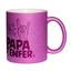 Mug à paillettes violet papa d'enfer