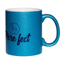 Mug à paillettes bleu père-fect