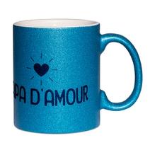 Mug à paillettes bleu papa d'amour