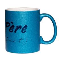 Mug à paillettes bleu père (fect)