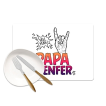 Set de table Papa d'Enfer
