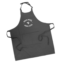 Tablier papa poule cool anthracite