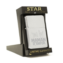 Briquet Star argent Maman d'Enfer