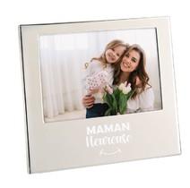 Cadre photo argenté Maman heureuse