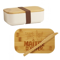 Lunchbox en bambou Maître d'Enfer