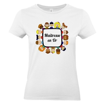 T-shirt maîtresse en or blanc