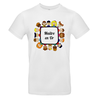 T-shirt maître en or blanc