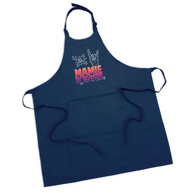 Tablier bleu marine Mamie d'Enfer