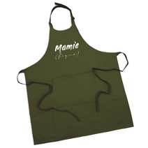 Tablier olive Mamie (fique)
