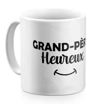 Mug grand-père heureux blanc