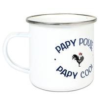 Tasse émaillée papy poule cool