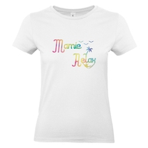 T-shirt blanc Mamie Relax