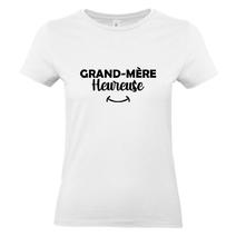 T-shirt blanc Grand-mère heureuse