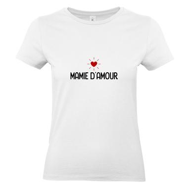 T-shirt blanc Mamie d'amour