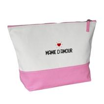Grande trousse bicolore rose Grand-mère heureuse