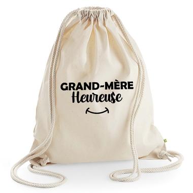 Sac de loisir beige Grand-mère heureuse