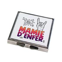 Miroir de poche fermé Mamie d'Enfer
