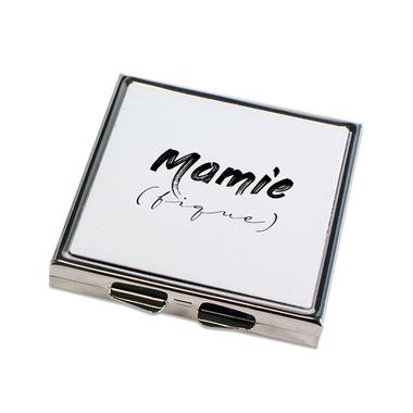 Miroir de poche fermé Mamie (fique)