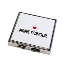 Miroir de poche fermé Mamie d'amour