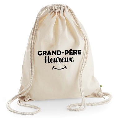 Sac loisir grand-père heureux beige