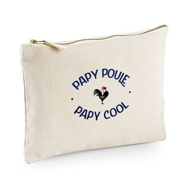 Pochette multi-usages papy poule-cool beige