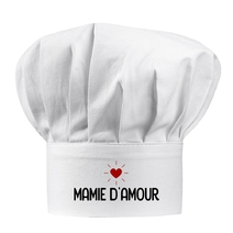 Toque blanche Mamie d'amour