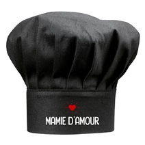 Toque noire Mamie d'amour