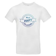 T-shirt élu papy de l'année blanc