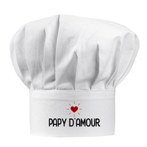 Toque blanche papy d'amour