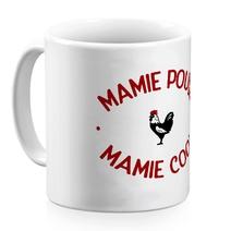 Mug céramique blanc Mamie Poule Mamie Cool