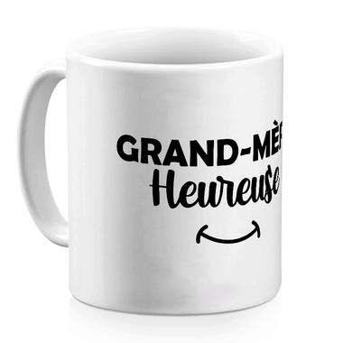 Mug céramique blanc Mamie heureuse