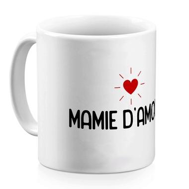 Mug céramique blanc Mamie d'amour